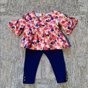Janie and Jack Floral Outfit